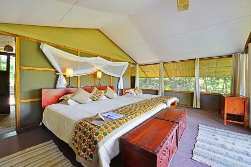 Ishasha Wilderness Camp in Queen Elizabeth NP on the Amazing uganda safari trip