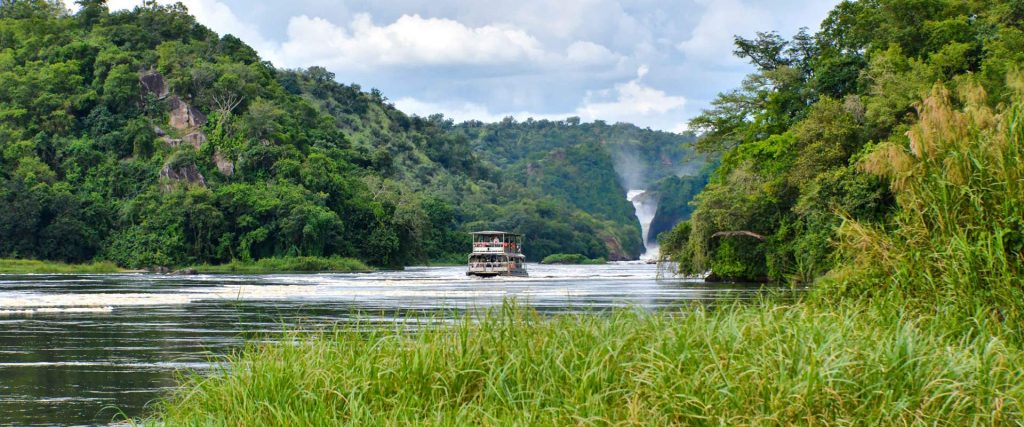 The Spectacular Murchison Falls in View on a Boat Safari