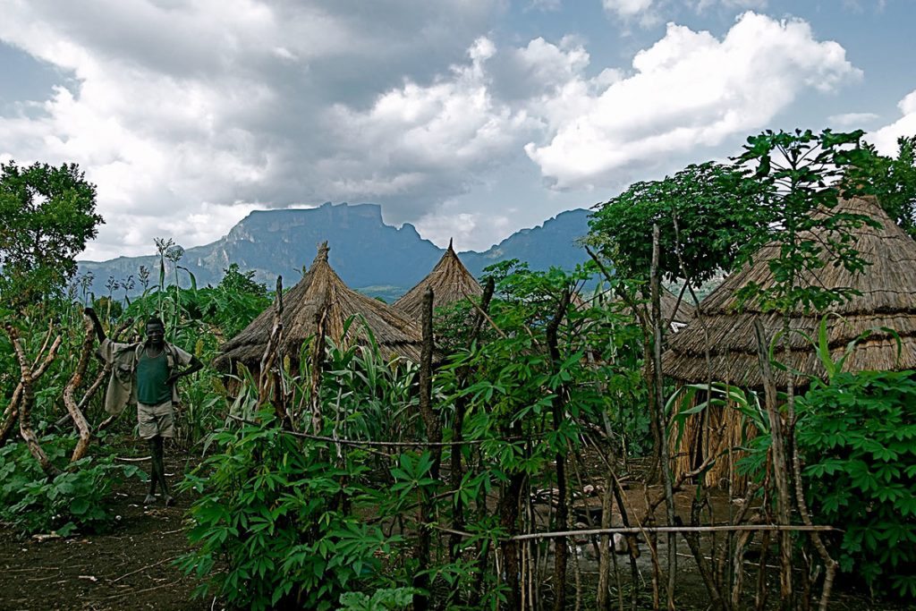 a Village in Pian Upe Game Reserve