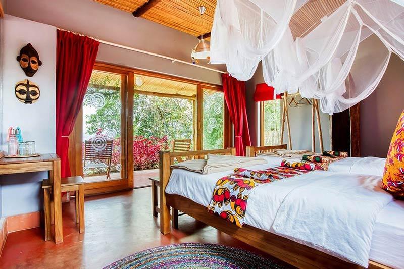 Chameleon Hill lodge, accommodation for gorilla trekking in southern bwindi